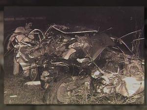 Imagem do acidente de Juscelino Kubitschek na Via Dutra (Foto: Reprodução/ TV Rio Sul)