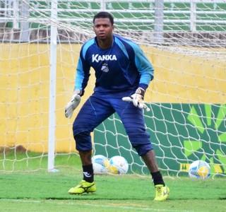 Goleiro Felipe Bragantino apresentação (Foto: Danilo Sardinha/GloboEsporte.com)