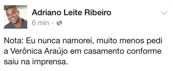 Adriano  (Foto: Facebook / Reprodução)