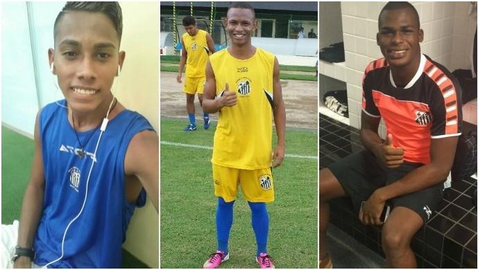 Trio santista no Pelotas-RS (Foto: Reprodução/Facebook)