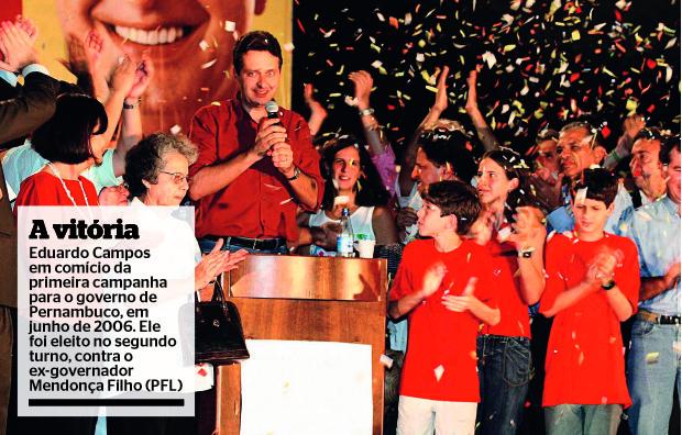 Eduardo Campos, em campanha em 2006 (Foto: Arquivo pessoal)