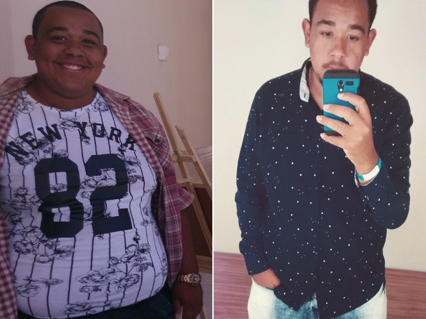 Em 8 meses, José Humberto foi de 138 kg para 82 kg. (Foto: José Humberto dos Santos Junior/Arquivo pessoal)