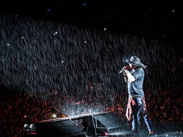 Axl Rose no show do Guns N'Rose em São Paulo. (Foto: Divulgação/Katarina Benzova)