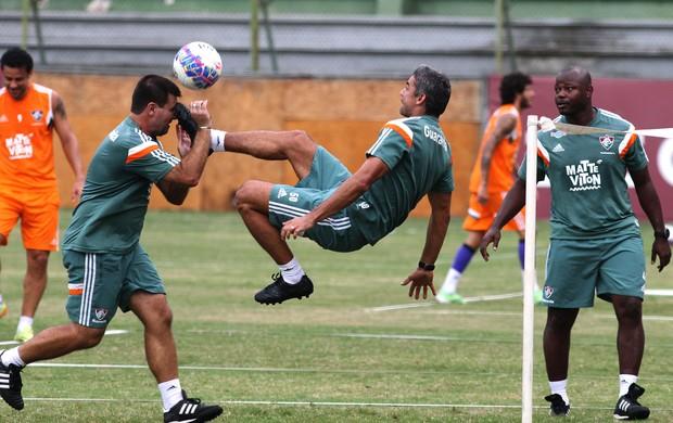 Cassiano Jesus e Jefferson Souza, treino Fluminense