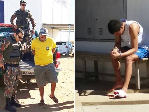 Gilferson Soares de Oliveira e Ivanildo Cardoso da Silva Filho são dois dos três presos recapturados (Foto: Rosivan do Amaral)