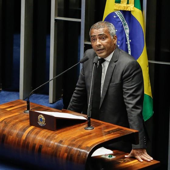 Senador Romário no Senado (Foto: Sérgio Lima/ÉPOCA)