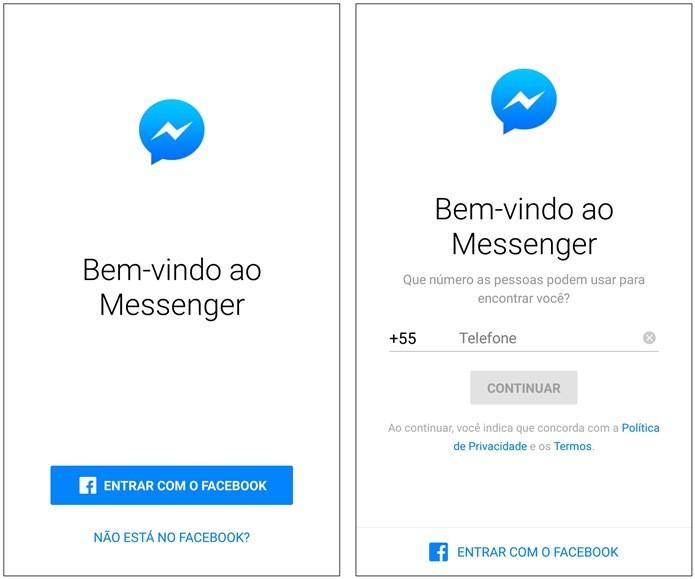 Facebook Messenger 'copia' WhatsApp e libera login com