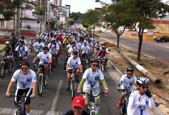 Passeio Ciclístico Polícia Civil Caruaru (Foto: Danilo César / TV Asa Branca)
