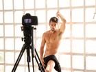 'Gostaria de estar mais trincadinho', diz Rafael nos bastidores do Paparazzo