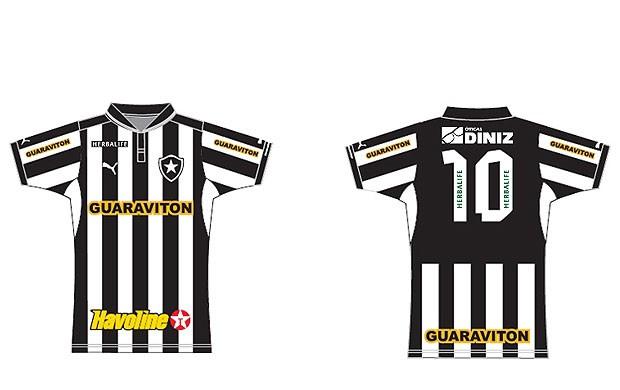 Camisa Botafogo patrocínio (Foto: Divulgação)