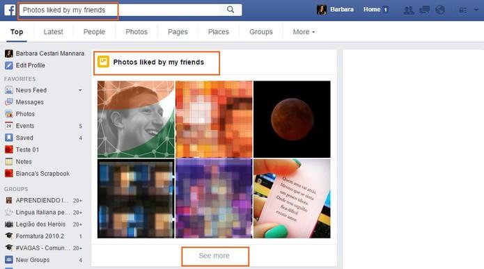 Veja as fotos curtidas por todos os amigos do Facebook (Foto: Reprodução/Barbara Mannara)