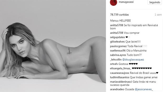 Divulgação da capa do novo álbum de Manu Gavassi rendeu vários comentários e comparações (Foto: Reprodução/Instagram)
