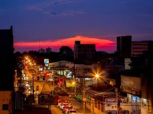 Fotógrafo registrou pôr do sol em Rio Branco  (Foto: João Pereira/Arquivo pessoal )