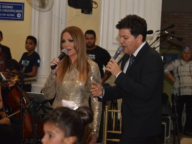 Solange Almeida no casamento de Xand em Fortaleza, no Ceará (Foto: Felipe Souto Maior/ Ag. News)