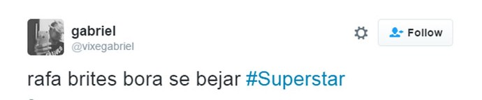 tweet rafa brites (Foto: Reprodução/Internet)