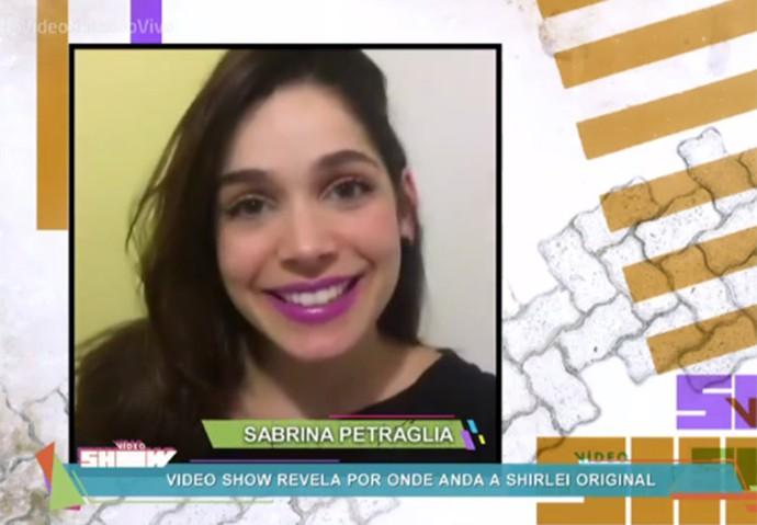 Sabrina manda recado para Karina Barum agradecendo pelo papel (Foto: TV Globo)