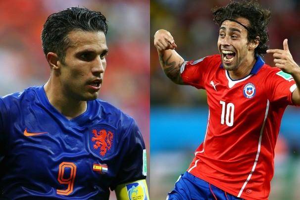 Holanda e Chile se enfrentam na terceira rodada do grupo  B. Ao vivo, na Globo (Foto: Globo Esporte)