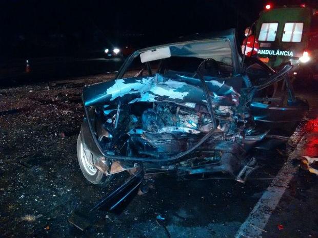 Segundo a PRF, o veículo trafegava pela contramão (Foto: PRF/ Digulgação)