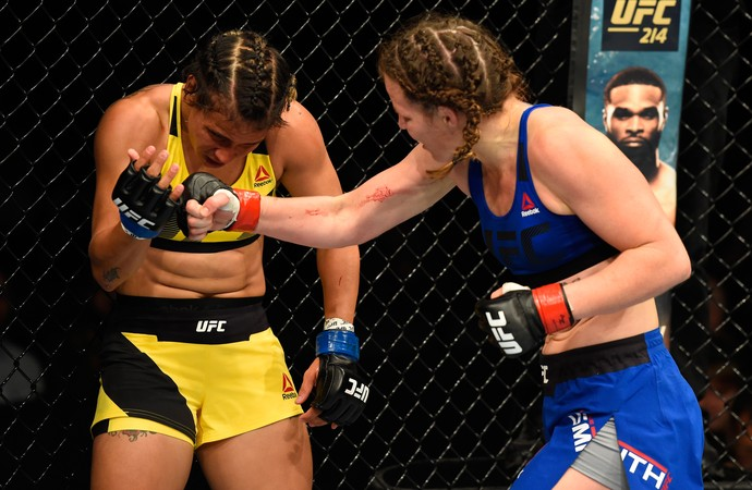 Leslie Smith nAmanda Lemos UFC Escócia (Foto: Getty Images)