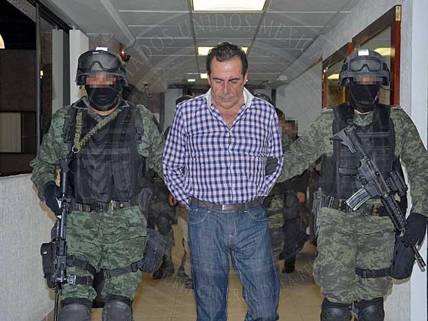 Héctor Beltrán Leyva, líder do cartel de drogas Beltran Leyva, foi preso no México. (Foto: Procuradoria-Geral / Via AFP Photo)