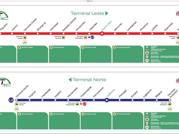 Prefeitura pretende construir 25 estações e dois terminais no novo sistema. (Foto: Divulgação)