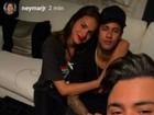 Neymar e Bruna Marquezine fazem festa com irmão de Cristiano Araújo