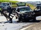 Acidente entre caminhão e carro na SP-101 deixa 5 feridos em Rafard, SP