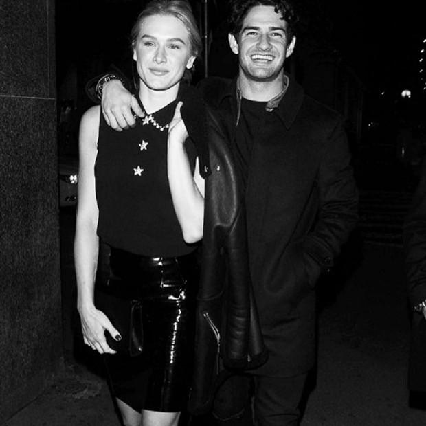 Fevereiro de 2017: Fiorella e Pato na Milan Fashion Week (Foto: Reprodução/Instagram)