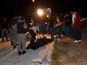 Corpos esquartejados foram encontrados na comunidade Alvorada em João Pessoa (Foto: Walter Paparazzo/G1)