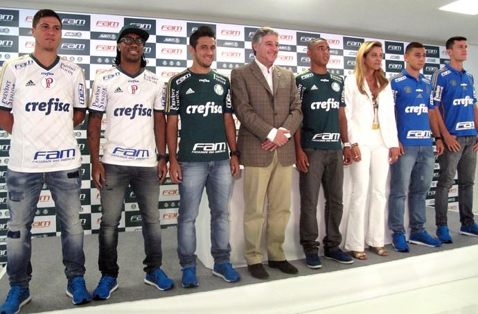 Jogadores do Palmeiras (Foto: Rodrigo Faber)