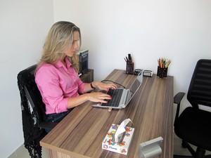 Psicóloga ministra workshops com metodologia para emagrecer (Foto: Anna Gabriela Ribeiro/G1)