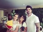 Filho de Adriana Sant'Anna e Rodrigão é batizado e ganha festa; veja fotos