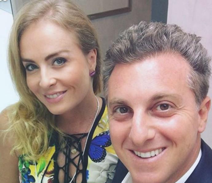 Luciano faz selfie com Angélica (Foto: Arquivo Pessoal)