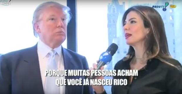 Luciana Gimenez já entrevistou Donald Trump, agora presidente dos EUA (Foto: Reprodução)