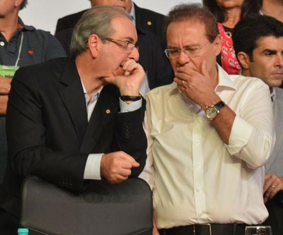 Eduardo Cunha e Renan Calheiros (Foto: Valter Campanato/Agência Brasil)