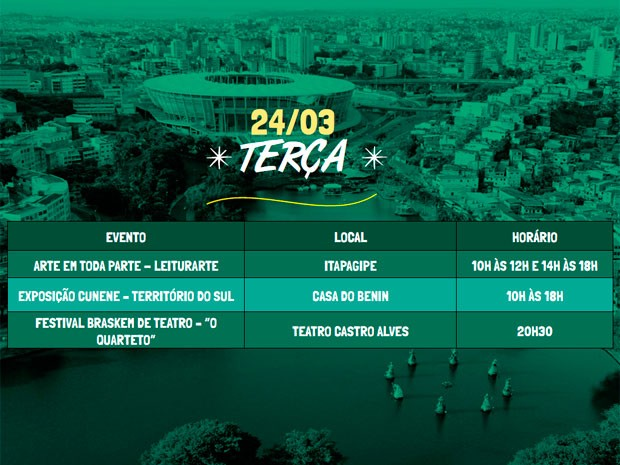 Programação do terceiro dia do Festival da Cidade (Foto: Divulgação / Agecom)