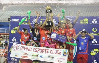 Divino EC vence nos pênaltis e é campeão feminino da Copa Rede AM