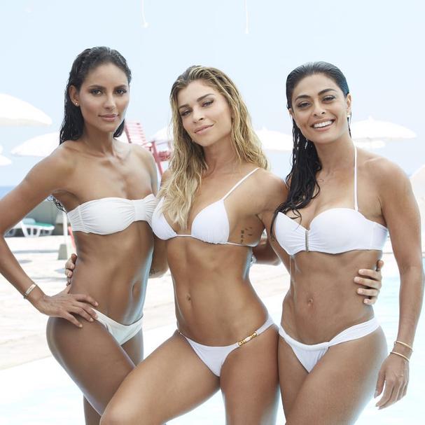 Juliana Paes, Grazi Massafera e Emanuela de Paula posam sexy para campanha