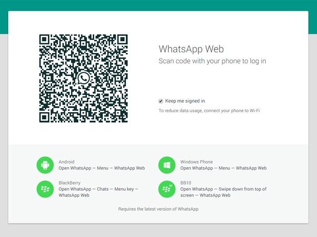WhatsApp finalmente ganha versão para computadores (Foto: Reprodução/WhatsApp)