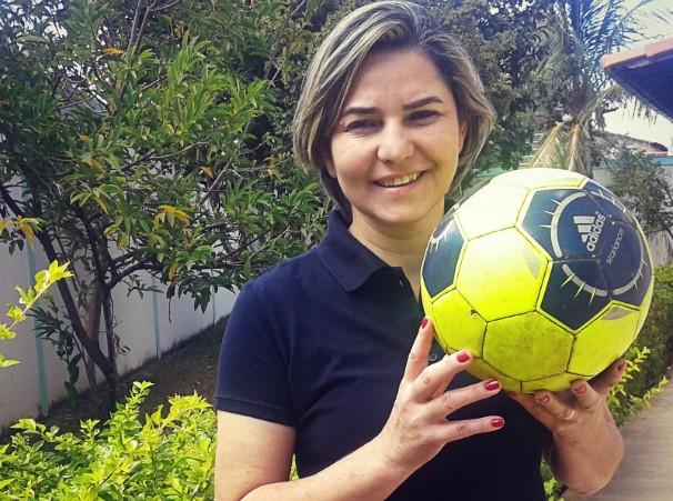 Cida Santana é comentarista esportiva e editora do GloboEsporte.com (Foto: Arquivo Pessoal/ Cida Santana)