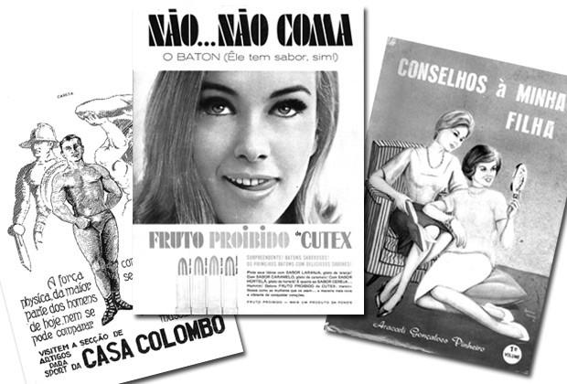 """Ilustrações de """"História da Beleza no Brasil"""": anúncios e revistas de época mostram a evolução do mercado de cosmetologia no país (Foto: Divulgação)"""
