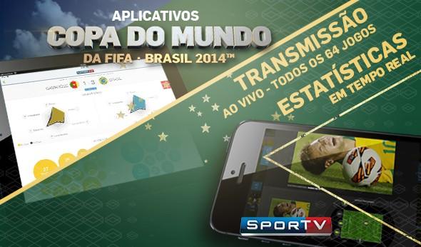 Aplicativo SporTV Copa (Foto: Divulgação)