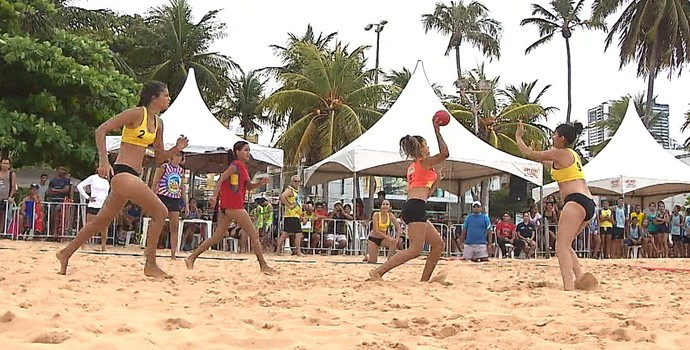 handebol, handebol de areia, Taça Kika (Foto: Reprodução / TV Cabo Branco)