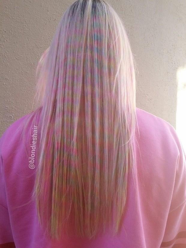 Cabelo confete é a nova moda da vez (Foto: Reprodução / Instagram)