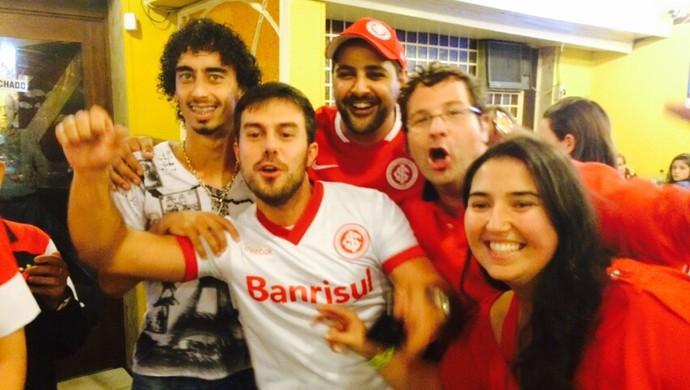 Valdívia em festa do Inter em churrascaria após título do Gauchão (Foto: Igor Grossmann/GloboEsporte.com)