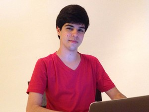 Pedro estuda Análise e Desenvolvimento de Sistemas no IFRN, em Natal (Foto: Arquivo pessoal/Pedro Menezes)