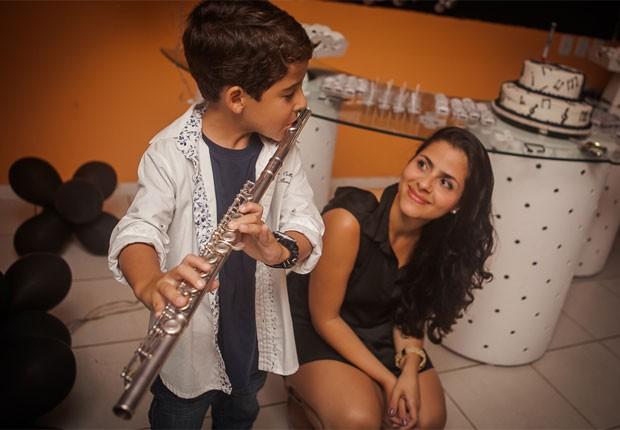 Luiz Felipe Mello toca para Mira Callado (Foto: Divulgação)
