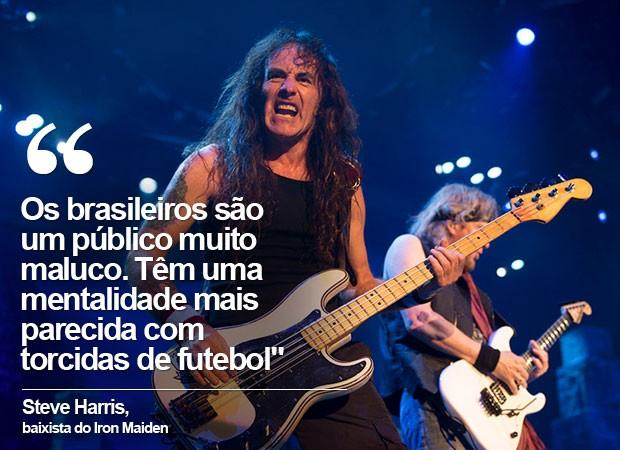 Steve Harris, baixista do Iron Maiden (Foto: Divulgação)