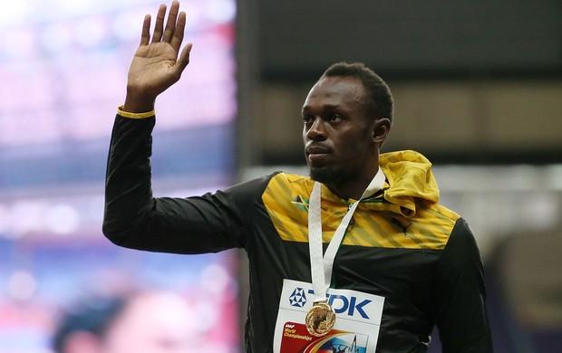 usain bolt podio moscou mundial de atletismo (Foto: AFP)