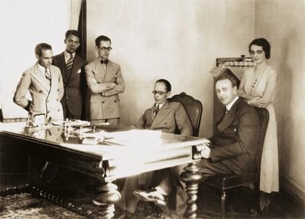 Drummond, com Capanema, em 1932, no Rio de Janeiro